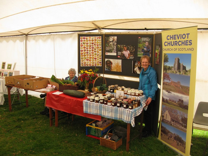 Church stall at Yetholm Border Shepherds' Show